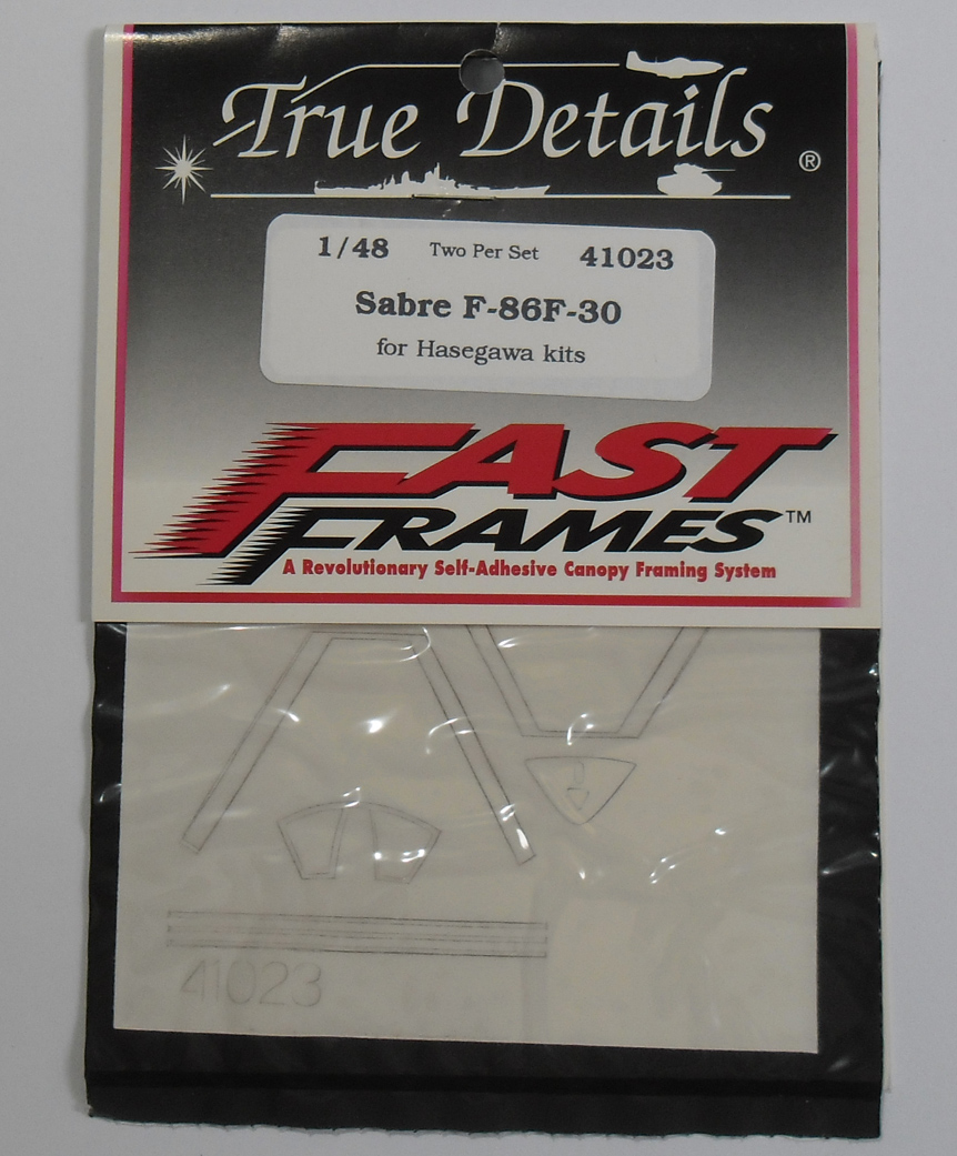 41023 Sabre F-86F-30 Canopy Fast Frame