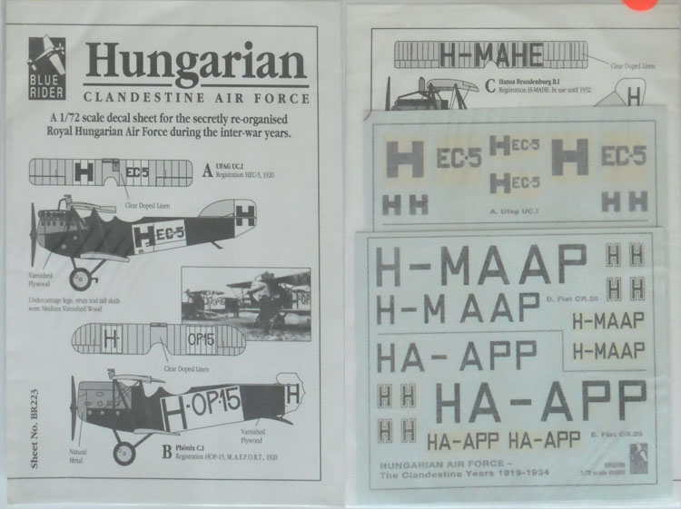BR223 Hungarian Clandestine Air Force