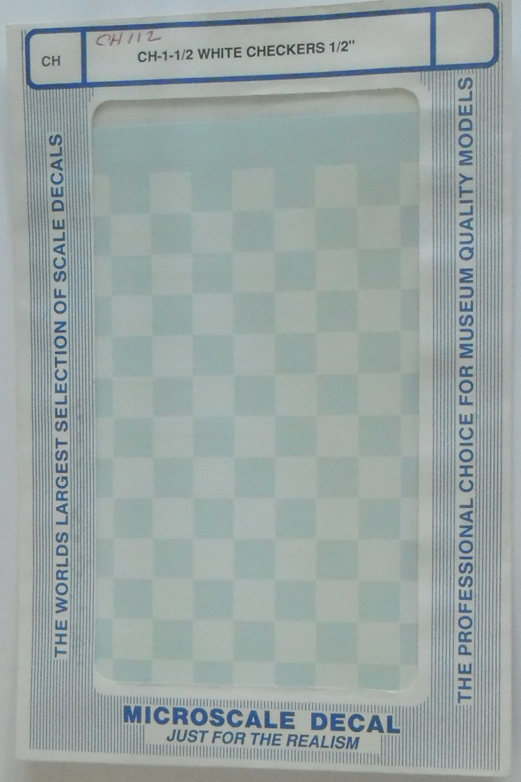 CH-1-1/2inch White Checkers