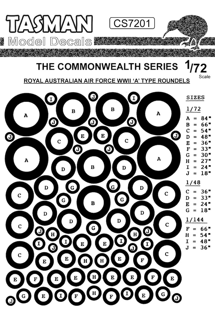 CS7201 RAAF WWII A-Type Roundels
