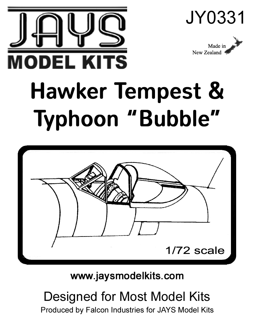 "JY0331 Hawker Tempest & Typhoon ""Bubble"" Canopy"