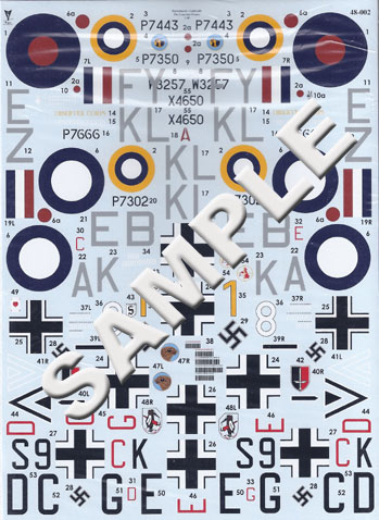 "JY1943 ""Lean Into France"" Decal Sheet"
