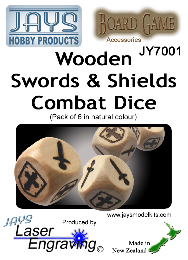JY7001 Combat Dice - Swords & Shields