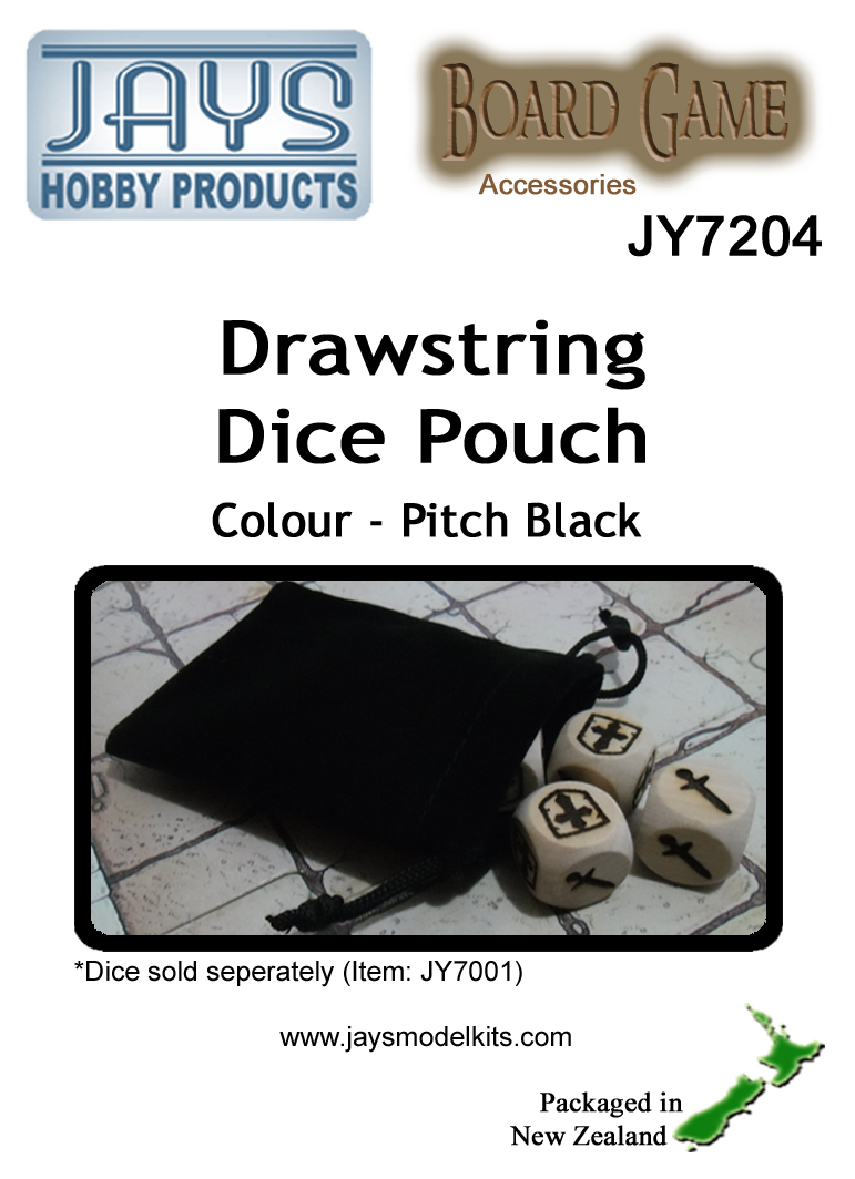 JY7204 Dice Pouch - Colour: Pitch Black