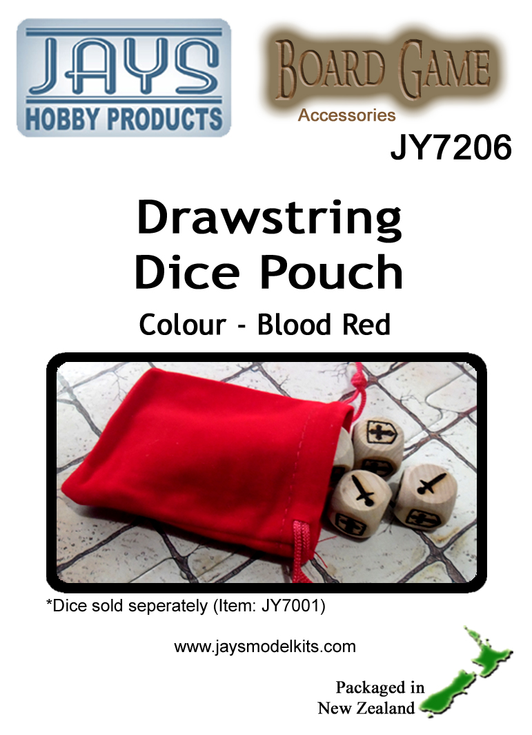JY7206 Dice Pouch - Colour: Blood Red