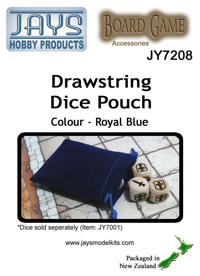 JY7208 Dice Pouch - Colour: Royal Blue