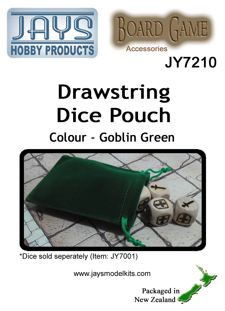 JY7210 Dice Pouch - Colour: Goblin Green