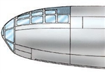9641 - Boeing B-29 Superfortress Canopy