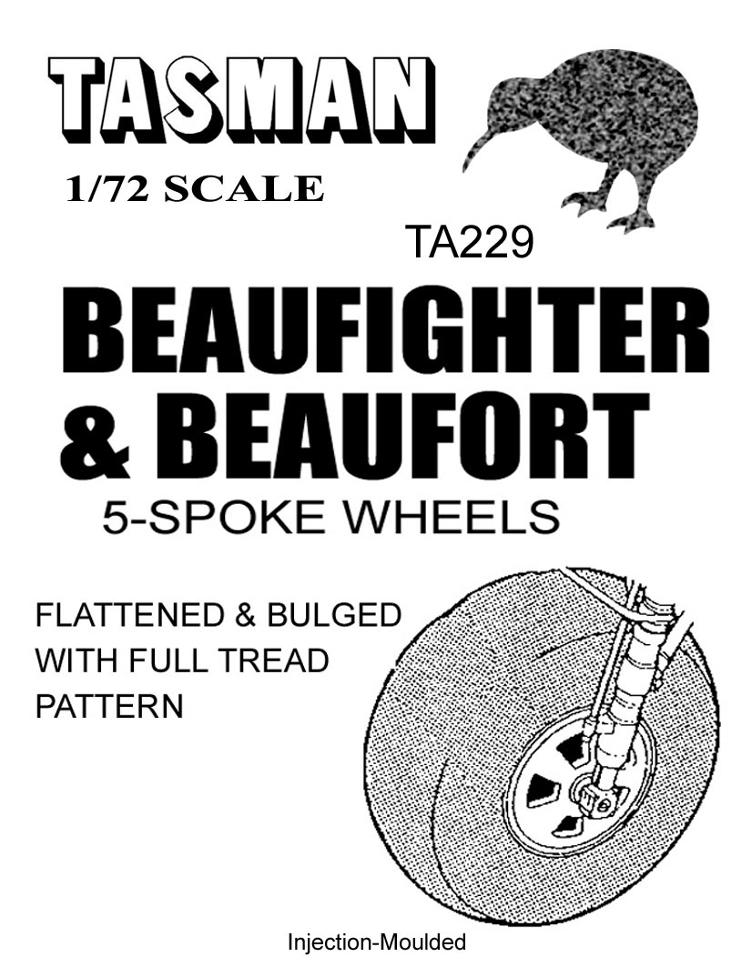 TA229 Beaufighter & Beaufort 5 Spoke Wheels